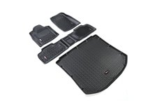 All Terrain Floor Liner Kit, Black : 11-18 Jeep Grand Cherokee WK