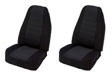 Neoprene Front Seat Covers, Black : 97-02 Jeep Wrangler TJ