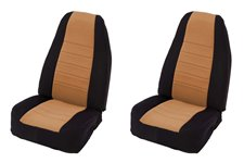 Neoprene Front Seat Covers, Tan : 97-02 Jeep Wrangler TJ