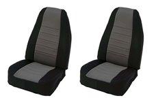 Neoprene Front Seat Covers, Gray : 97-02 Jeep Wrangler TJ