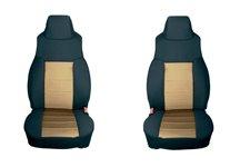 Neoprene Front Seat Covers, Tan : 03-06 Jeep Wrangler TJ