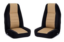Seat Cover Kit, Front, Fabric, Tan : 91-95 Jeep Wrangler YJ