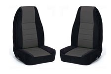 Seat Cover Kit, Front, Fabric, Gray : 91-95 Jeep Wrangler YJ