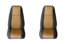 Seat Cover Kit, Front, Fabric, Tan : 76-90 Jeep CJ/Wrangler YJ