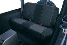 Seat Cover Kit, Rear, Neoprene Black : 97-02 Jeep Wrangler TJ