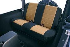 Seat Cover Kit, Rear, Neoprene Tan : 97-02 Jeep Wrangler TJ