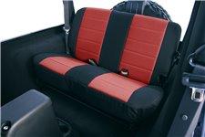 Seat Cover Kit, Rear, Neoprene Red : 97-02 Jeep Wrangler TJ