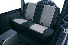 Seat Cover Kit, Rear, Neoprene Gray : 80-95 Jeep CJ/Wrangler YJ