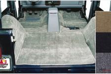 Deluxe Carpet Kit, Gray : 76-95 Jeep CJ/Wrangler YJ