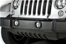 Fog Light Euro Guards, Black : 07-17 Jeep Wrangler JK