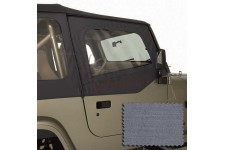 Upper Soft Door Kit, Gray : 88-95 Jeep Wrangler YJ