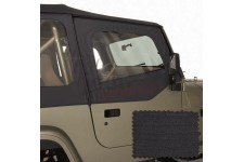 Upper Soft Door Kit, Black Denim : 88-95 Jeep Wrangler YJ