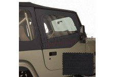 Upper Soft Door Kit, Black Diamond : 88-95 Jeep Wrangler YJ