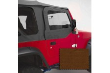 Upper Soft Door Kit, Dark Tan : 97-06 Jeep Wrangler TJ