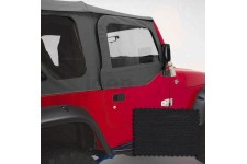 Door Skins, Black Diamond : 97-06 Jeep Wrangler TJ