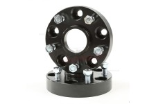 Wheel Spacers, 1.25 Inch, Black, 5x5 : 99-04 Jeep Grand Cherokee