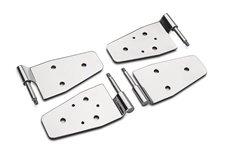 Door Hinge Set, Stainless Steel : 87-06 Jeep Wrangler YJ/TJ