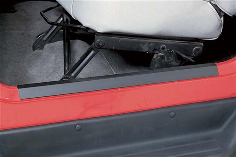 Door Entry Guard Set, Black : 97-06 Jeep Wrangler TJ