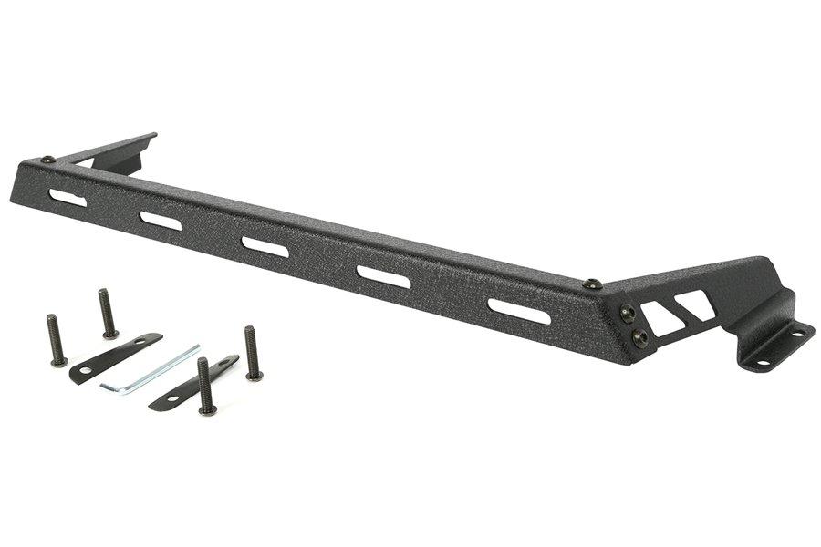 Hood Light Bar, Textured Black : 07-17 Jeep Wrangler JK