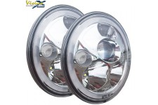 "VORTEX 7"" LED Headlights - chrom"