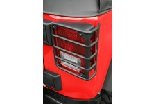 Tail Light Euro Guards, Black : 07-17 Jeep Wrangler JK