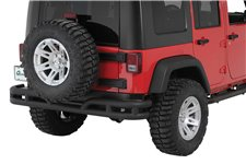 Double Tube Rear Bumper, 3 Inch : 07-17 Jeep Wrangler JK