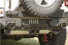 Aluminum XHD Rear Bumper Step : 07-17 Jeep Wrangler JK