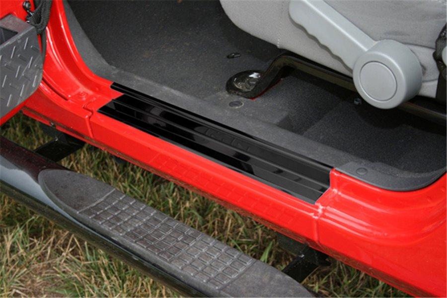 Door Entry Guard Set, Black : 07-17 Jeep Wrangler JK