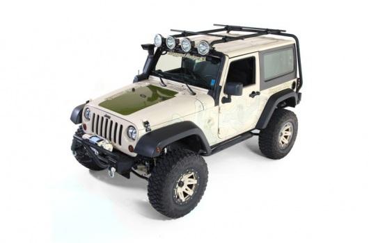 Sherpa Roof Rack, 2 Door : 07-17 Jeep Wrangler JK
