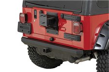 Rock Crawler Rear Bumper, 2 Inch Hitch : 87-06 Jeep Wrangler YJ/TJ