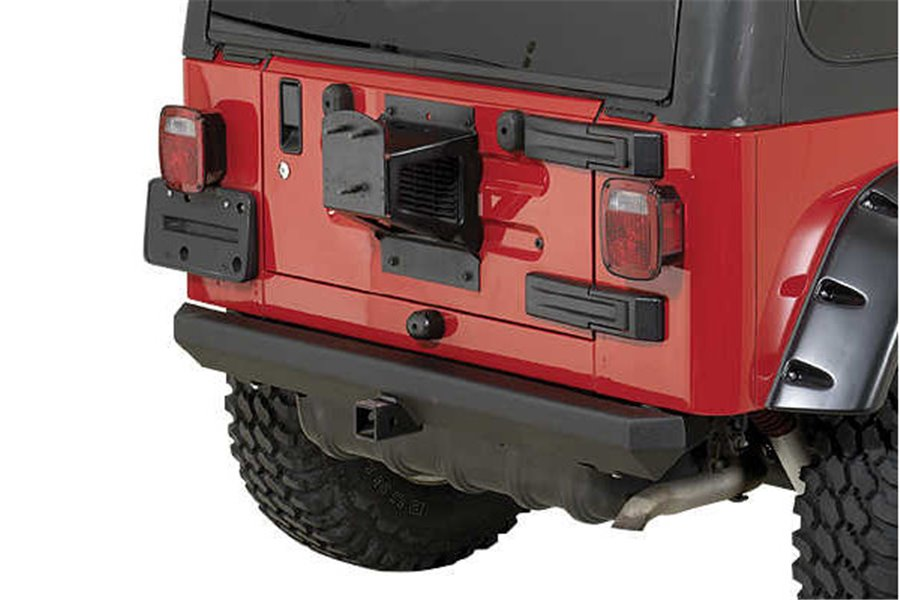 Rock Crawler Rear Bumper, 2 Inch Hitch, 87-06 Jeep Wrangler YJ/TJ