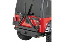 Rock Crawler Rear Bumper/Tire Carrier, Hitch : 87-06 Jeep Wrangler