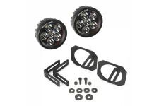 LED Light & Mount Kit, Circle : 07-17 Jeep Wrangler JK