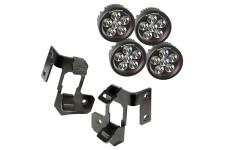 Light Mount Kit, A-Pillar, Semi-Gloss Black, Round LED : 07-18 Wrangler
