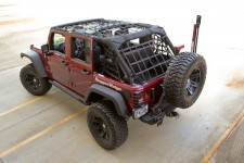 Cargo Net, Black : 07-18 Jeep Wrangler Unlimited JKU, 4 Door