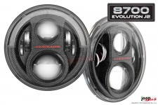 LED Headlights – Model 8700 Evolution J2 Series : EU, RHT, carbon, pair
