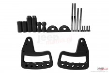 Aluminum Grab Handle, front, pair, black : 07-17 Jeep Wrangler JK