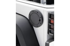 Gas Cap Door, Non-Locking, Black : 07-18 Jeep Wrangler JK