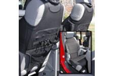 Neoprene Seat Vests, Black : 07-17 Jeep Wrangler JK