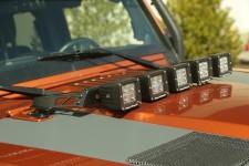 Hood Light Bar Kit, 5 Cube LED Lights : 07-17 Jeep Wrangler JK