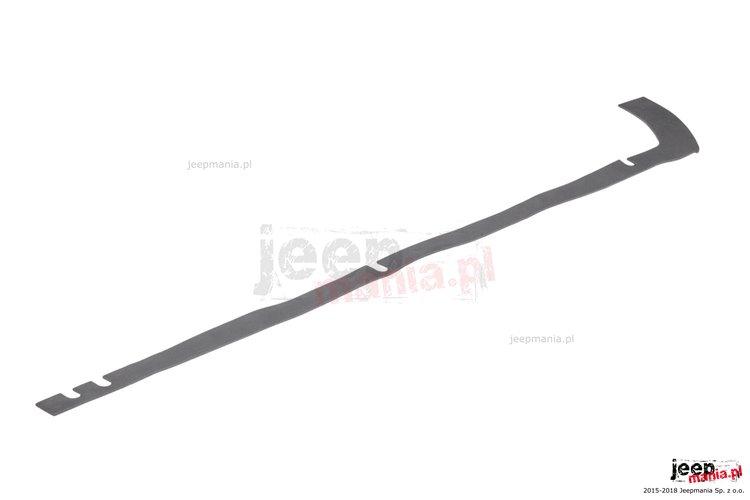 Hardtop to Body Seal, left : 07-18 Jeep Wrangler JK 2 Door