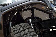 Wentylowane osłony nadkoli, aluminiowe, przednie, para : 07-18 Jeep Wrangler JK