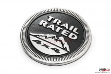 Mopar Trail Rated 4x4 Badge for 2005-2015 Jeep Vehicles, RED