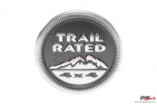 Mopar Trail Rated 4x4 Badge for 2005-2015 Jeep Vehicles, Dark Gray