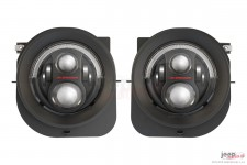 LED Headlights, model Evolution 2R, black : 14-18 Jeep Renegade BU