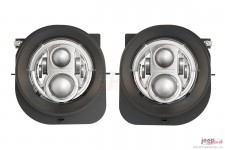LED Headlights, model Evolution 2R, chrome : 14-18 Jeep Renegade BU