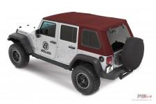 Trektop™ Pro Hybrid, Crushed Red Pepper : 07-18 Jeep Wrangler Unlimited JK 4 Door
