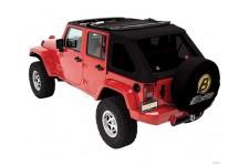 Trektop™ NX Twill, Replace-a-top for Trektop NX, Black Twill : 07-18 Jeep Wrangler Unlimited JK 4 Door