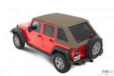 Trektop™ NX Plus™ Twill, Pebble Beige : 07-18 Jeep Wrangler Unlimited JK 4 Door
