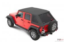Trektop™ NX Plus™ Twill, Granite Gray : 07-18 Jeep Wrangler Unlimited JK 4 Door